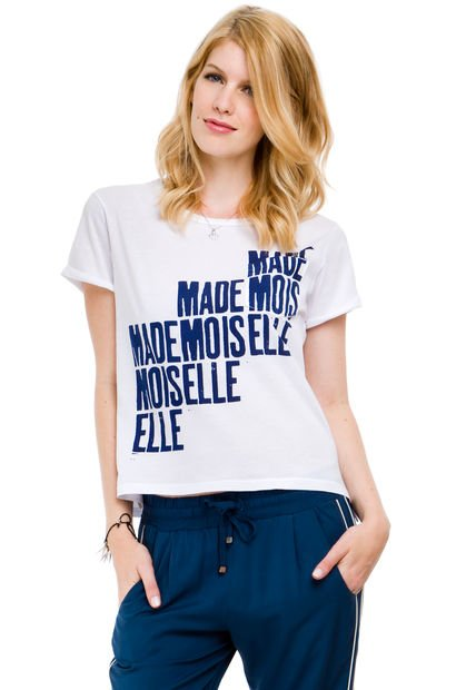 Remera Blanca System Mademoiselle