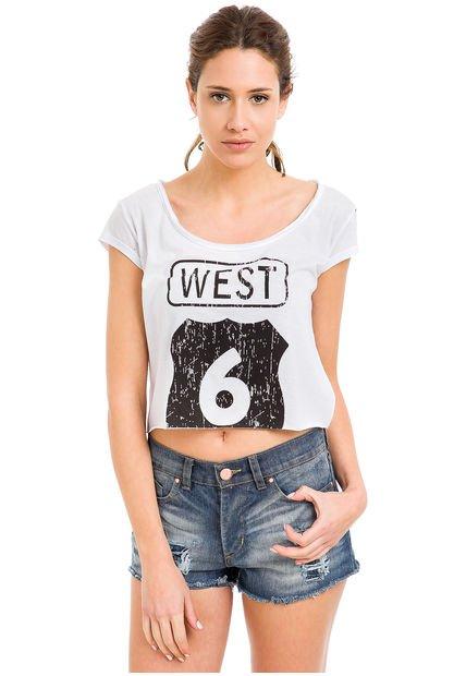 Remera Blanco System West Six