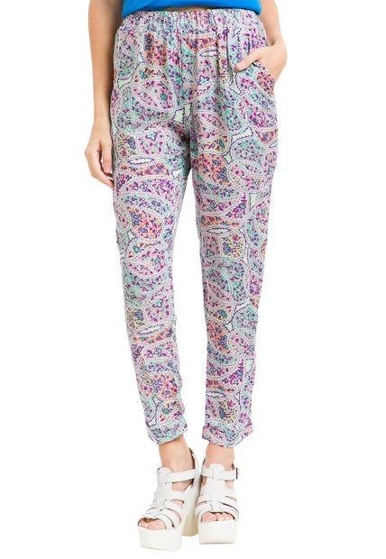 Pantalon Multicolor Taverniti Abril 2 Estampado