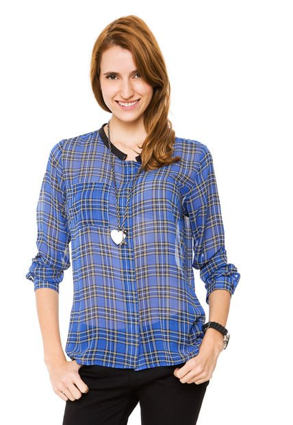 Camisa Azul Ted Bodin