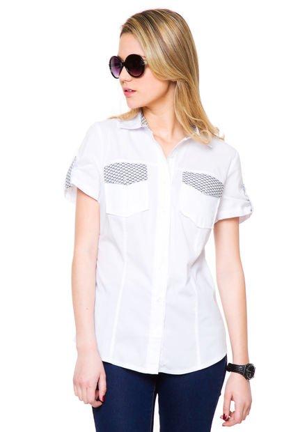 Camisa Blanca Tibetano Combinada