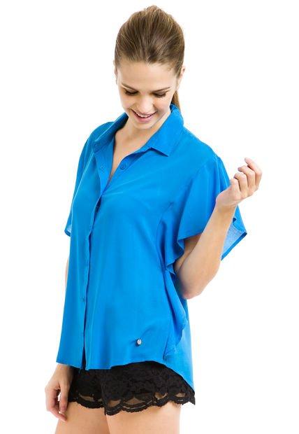 Camisa Azul Try Me Alas