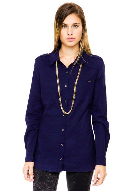 Camisa Azul Try Me Luciana