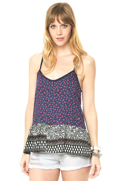 Musculosa Azul Try Me Puercoespin