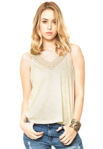 Musculosa Beige Try Me Acacia