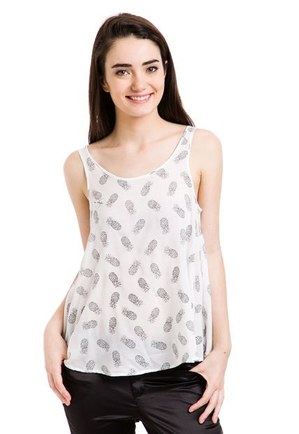 Musculosa Blanca Try Me Anana