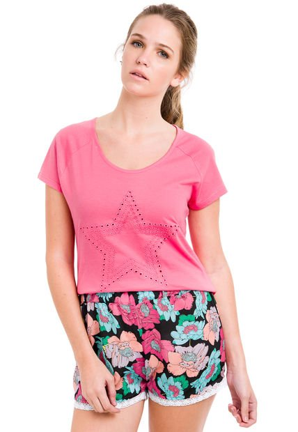 Remera Fucsia Try Me Star
