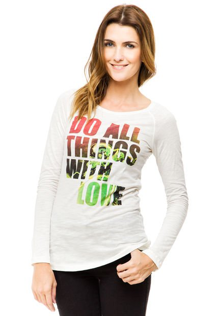 Remera Natural Try Me Lovely