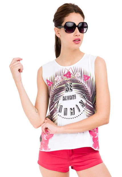 Musculosa Blanca Tucci Blooming