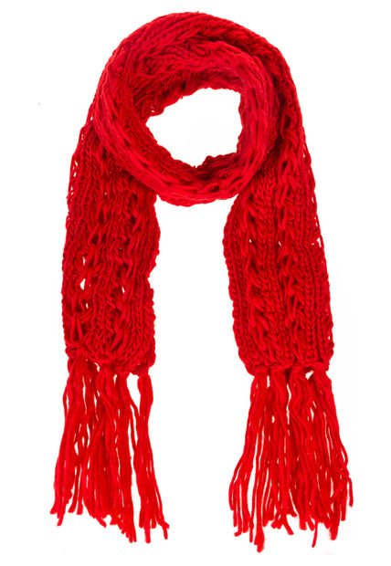 Bufanda Roja Vespertine Calada