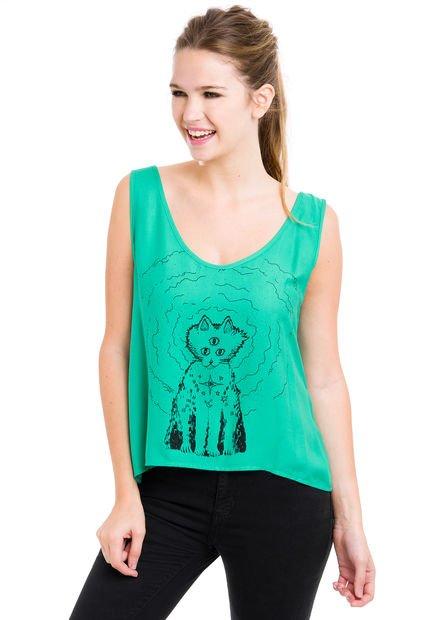 Musculosa Verde Vestite y Andate Aura Cat