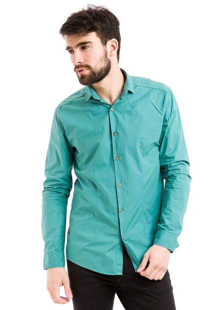 Camisa Verde Vete al Diablo Lisa