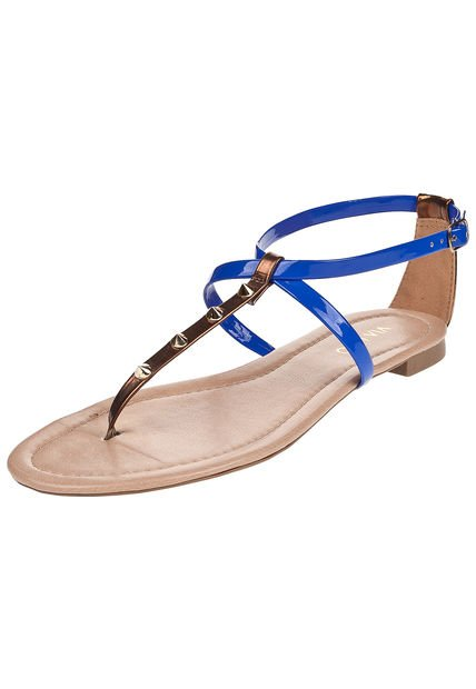 Sandalia Azul Via Uno Combinada