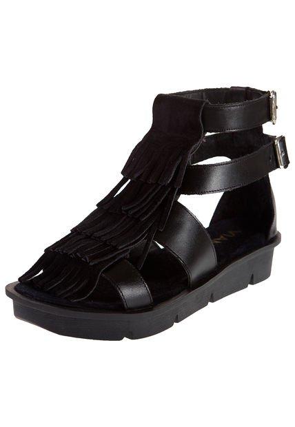 Sandalia Negra Viamo Fancy