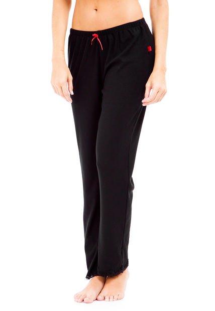 Pantalon Negro Wassarette Pijama