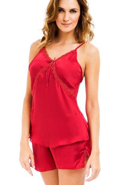Pijama Rojo Wassarette Puntilla