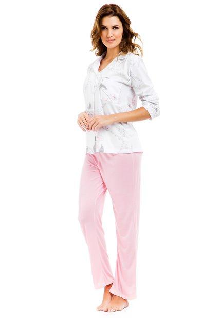Pijama Rosa Wassarette Estampado