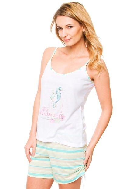 Pijama Verde Wassarette Hipocampos