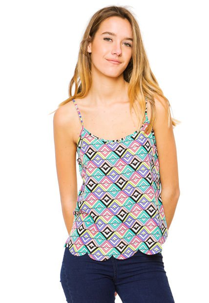 Musculosa Multicolor Y-Lovers Mint Print