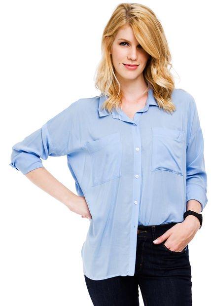 Camisa Celeste Yagmour Oversize