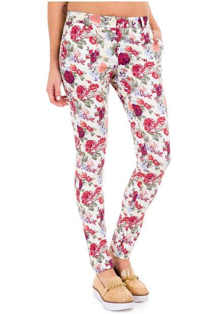 Pantalon Natural Yagmour Skinny Flores