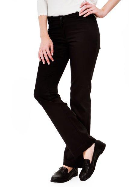 Pantalon Negro Yagmour Recto Tiro Alto