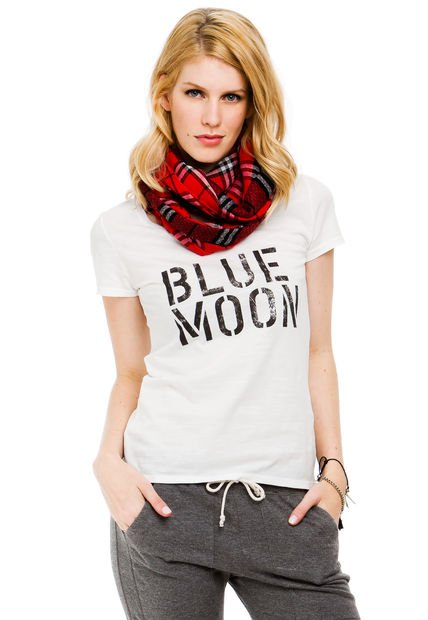 Remera Blanca Yagmour Blue Moon