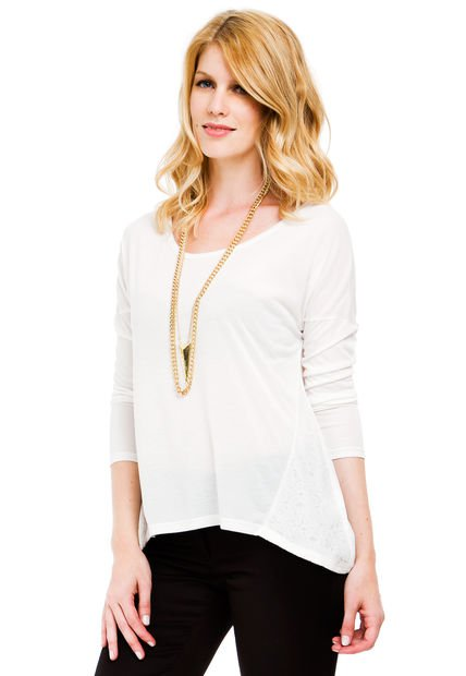Remera Natural Yagmour Lace