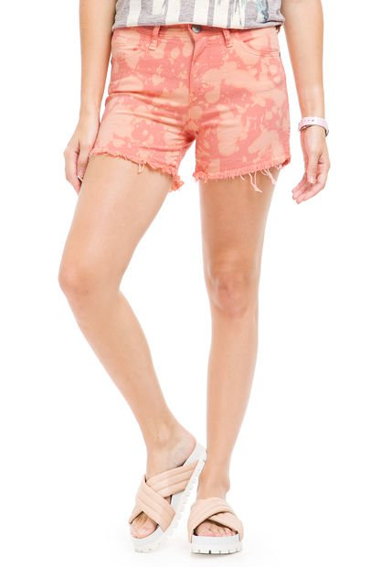 Short Coral Yagmour Marble Wash