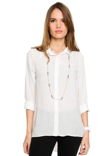 Camisa Blanca Ytrio Peach