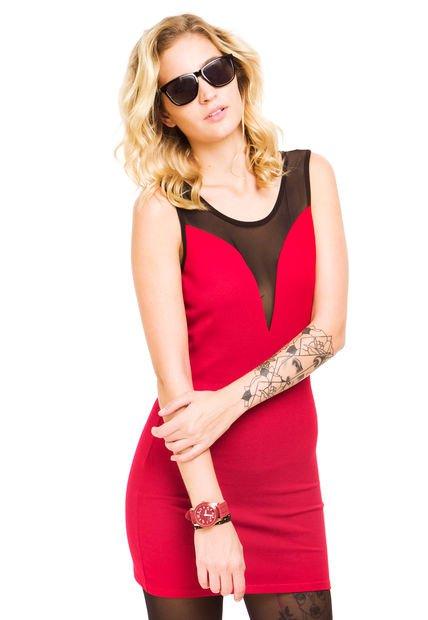 Vestido Rojo Zhoue Maia