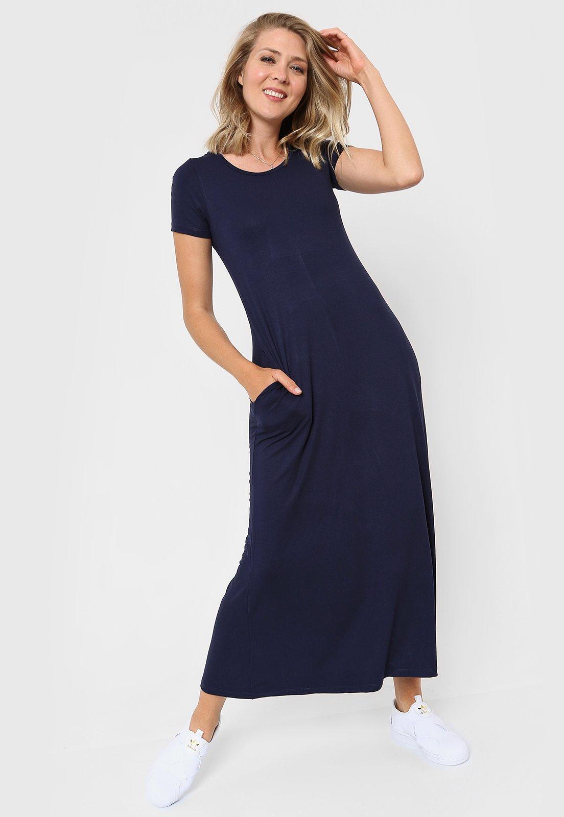 Vestido Azul Chelsea Market Sofii Largo