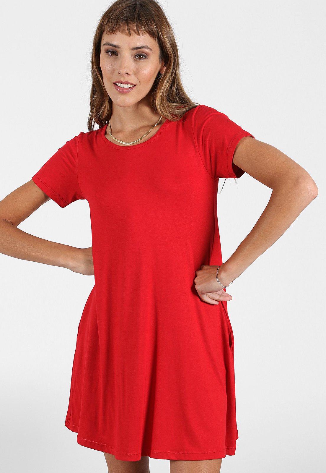 Vestido Rojo Chelsea Market Pao Corto