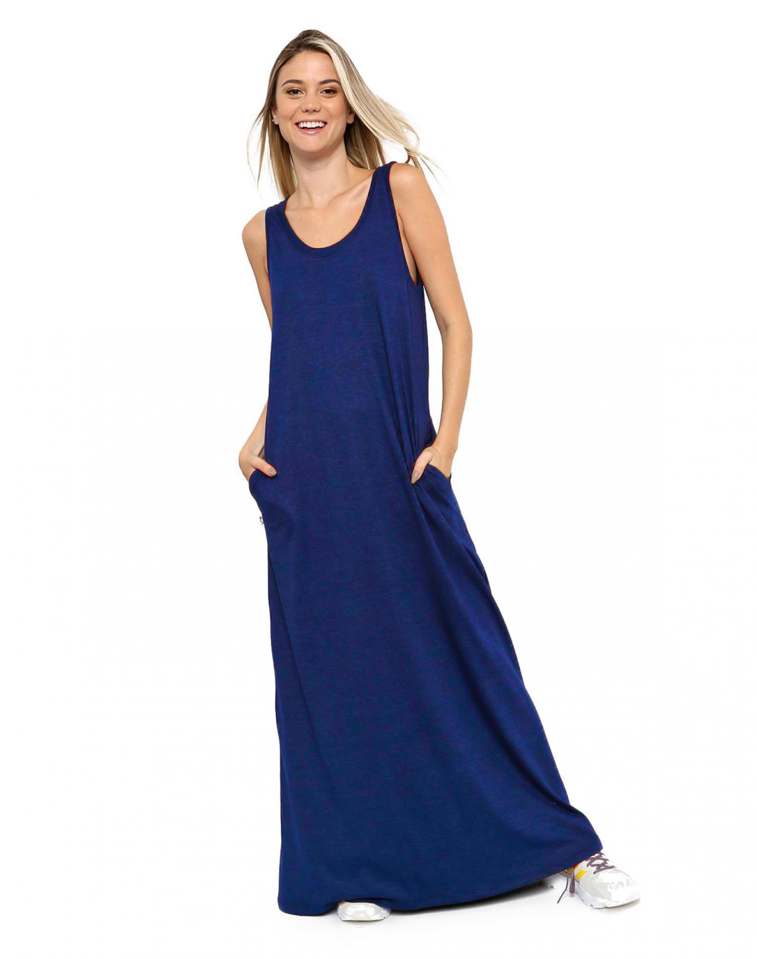 Vestido Azul Chelsea Market Acacia Largo