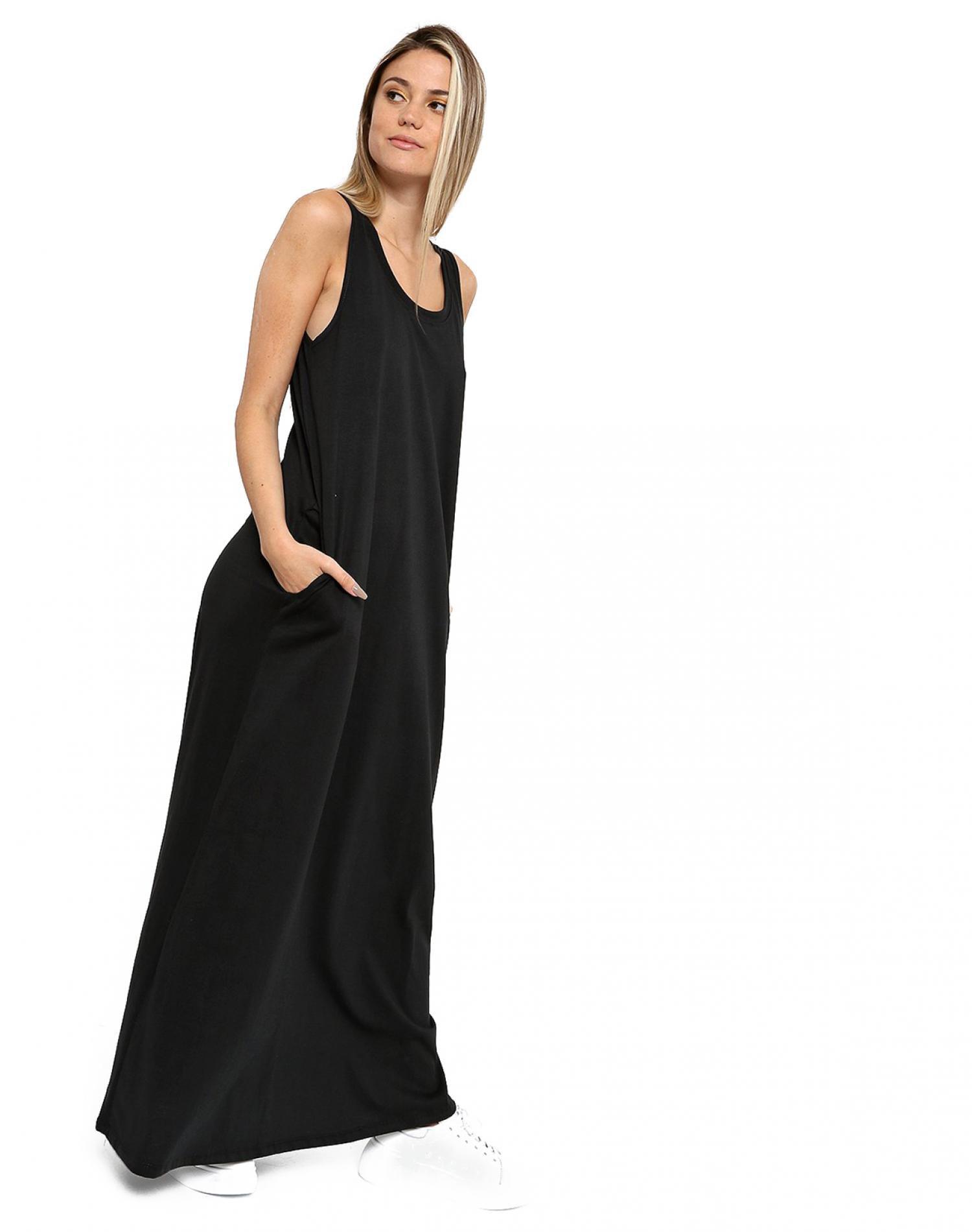 Vestido Negro Chelsea Market Acacia Largo