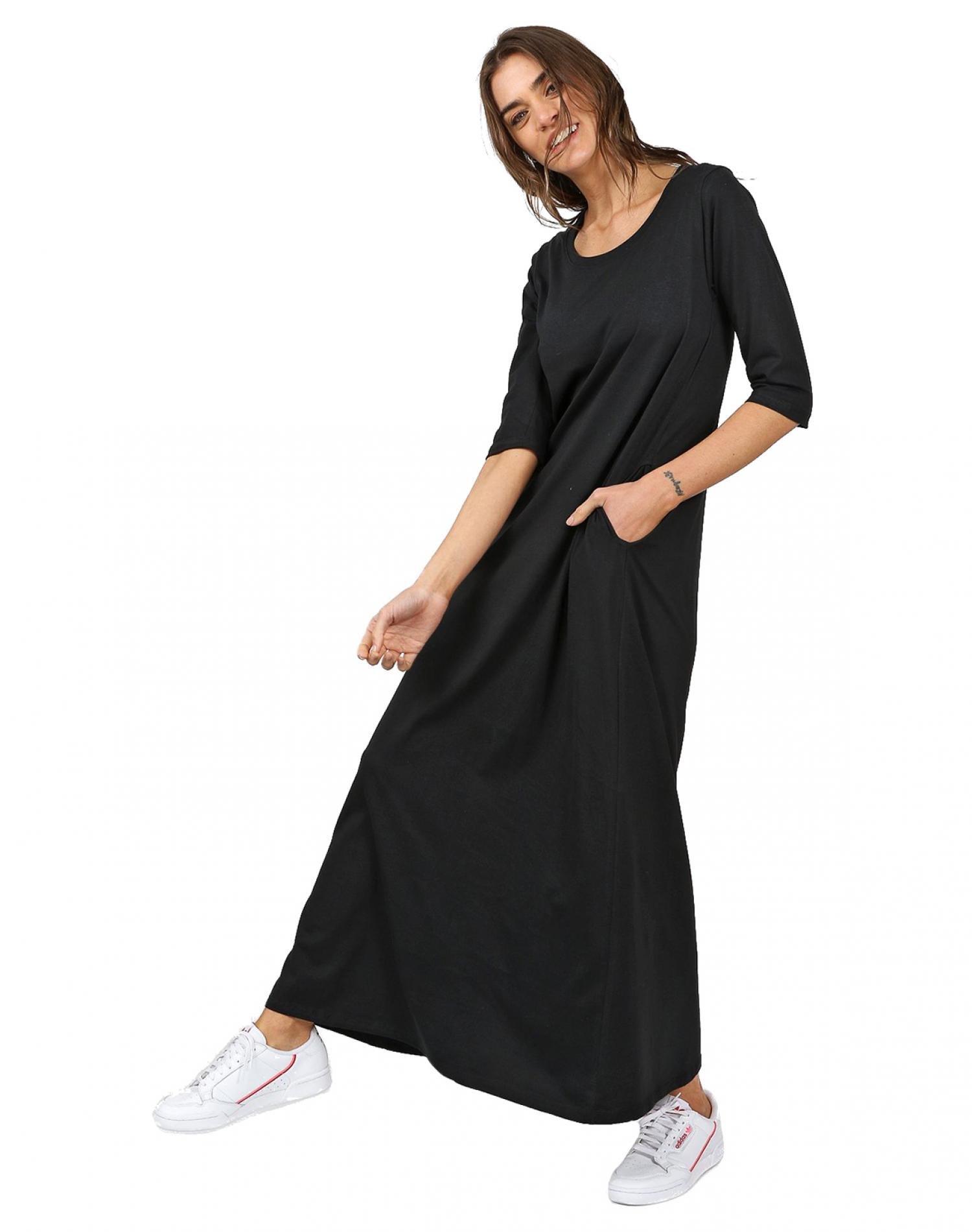 Vestido Negro Chelsea Market Jazmin Largo