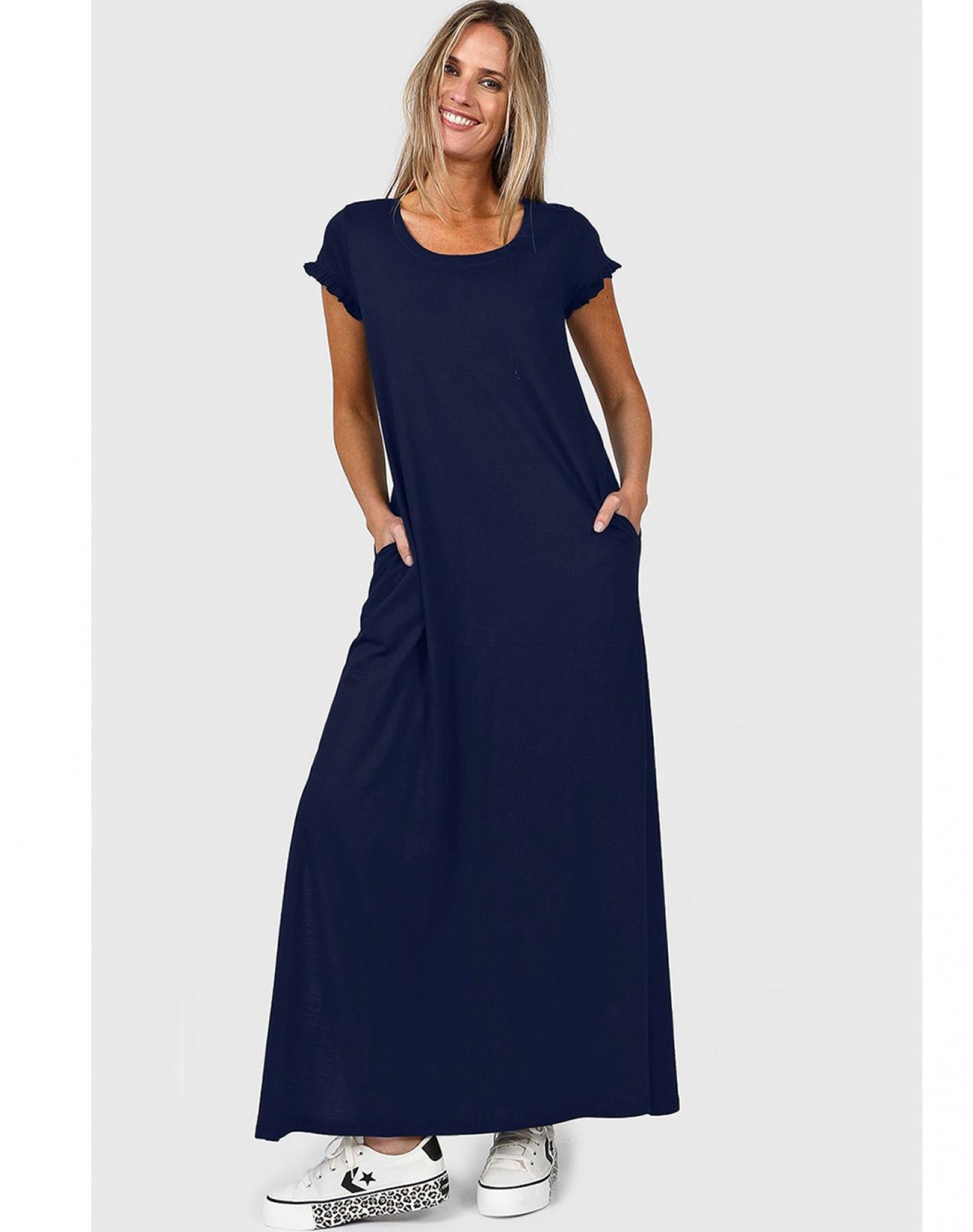 Vestido Azul Chelsea Market Freesia Largo