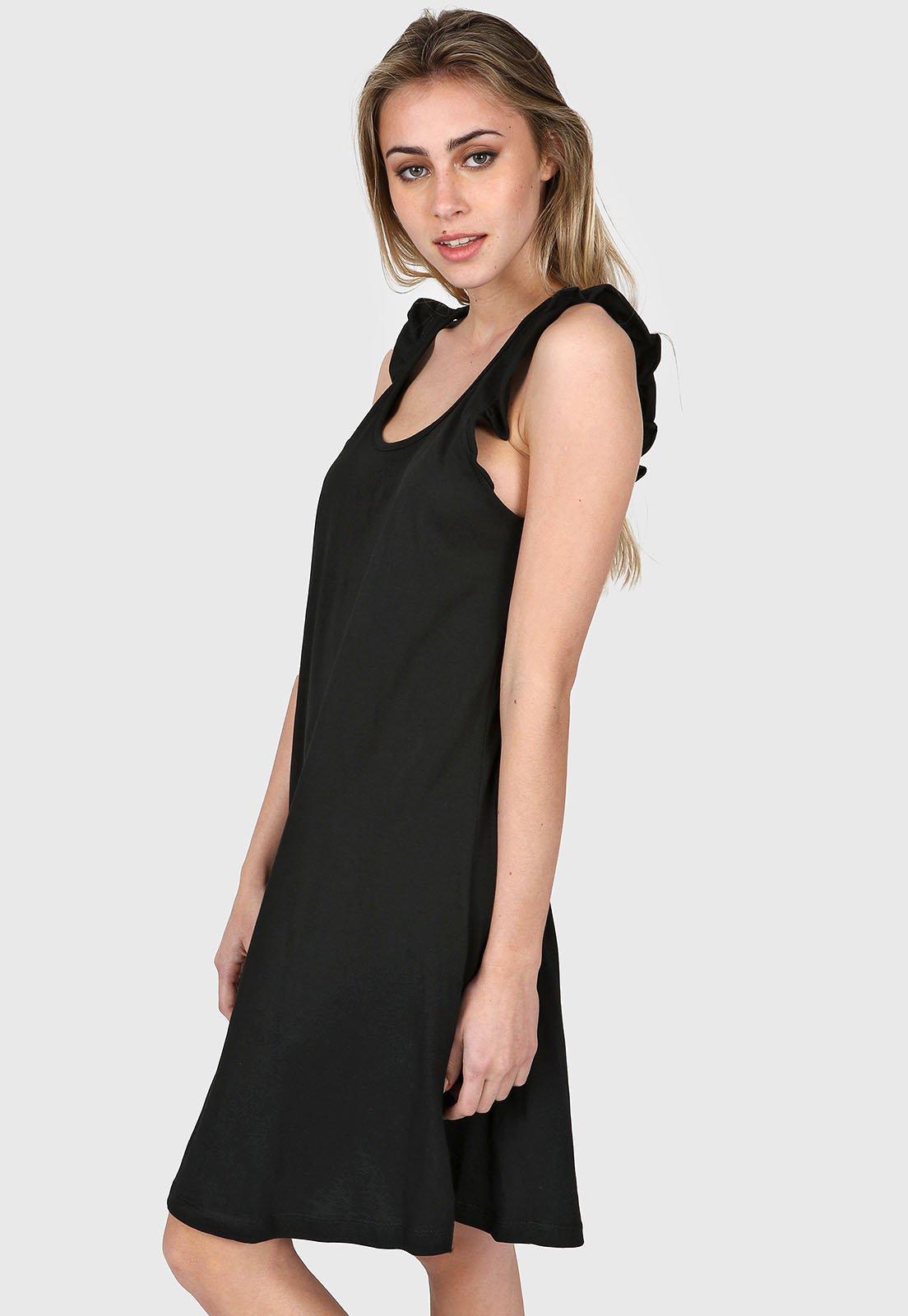 Vestido Negro Chelsea Market Lupita Corto
