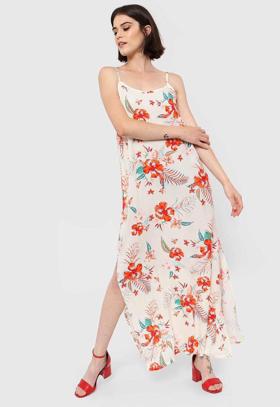 Vestido Beige Chelsea Market Flowery