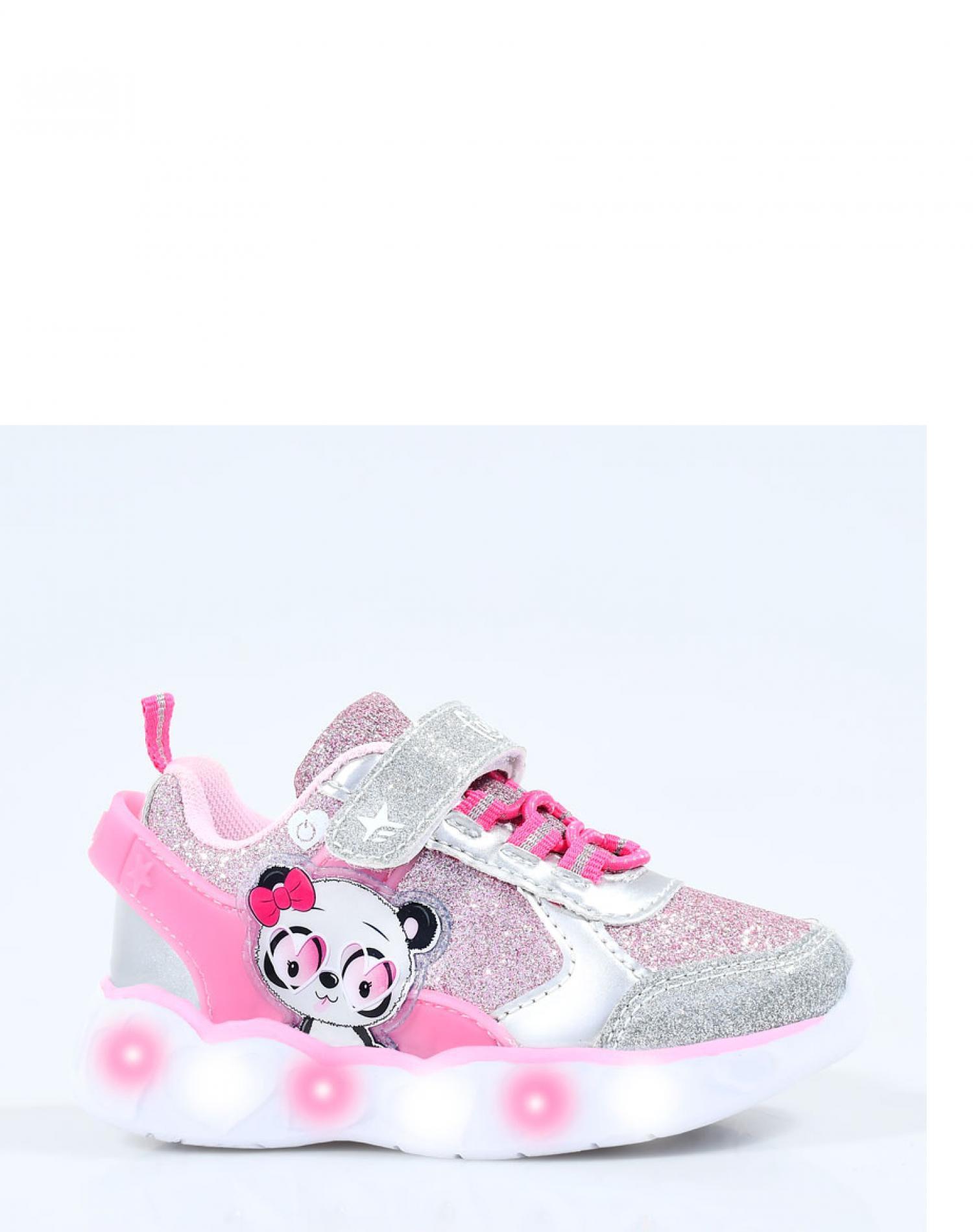 Zapatilla Rosa Footy Panda Luces Funny Store