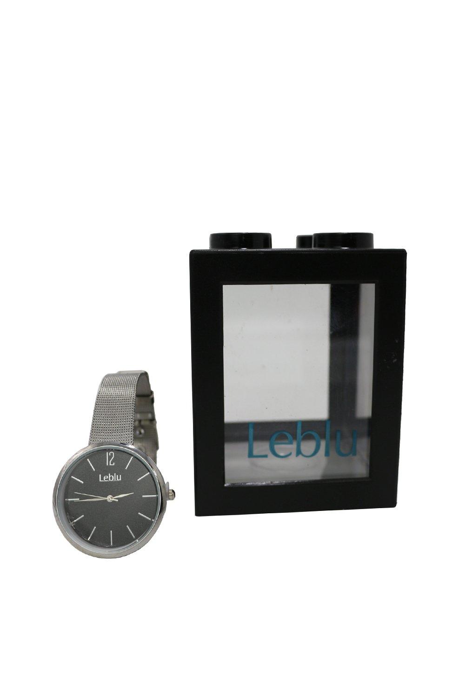 Reloj Negro Leblu Glitter