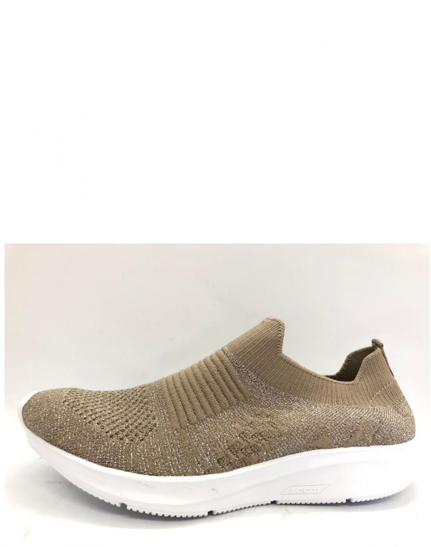 Zapatilla Beige One Foot Lurex