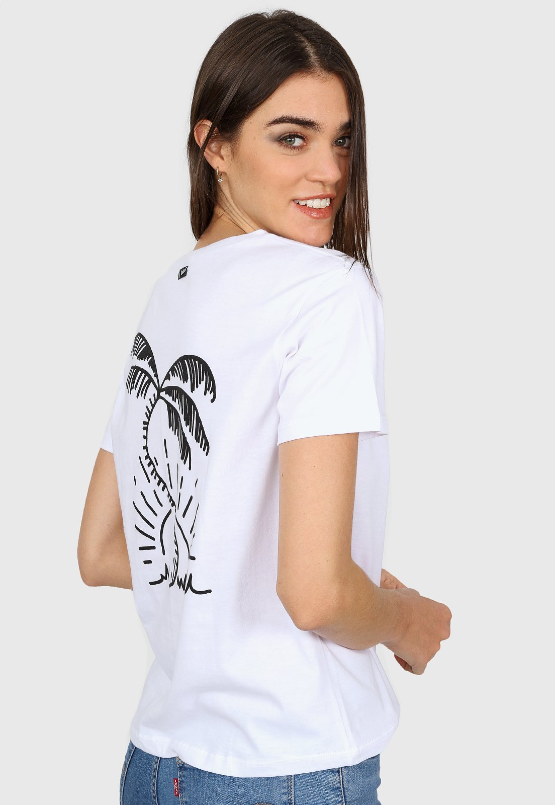 Remera Blanca Trooper Palms