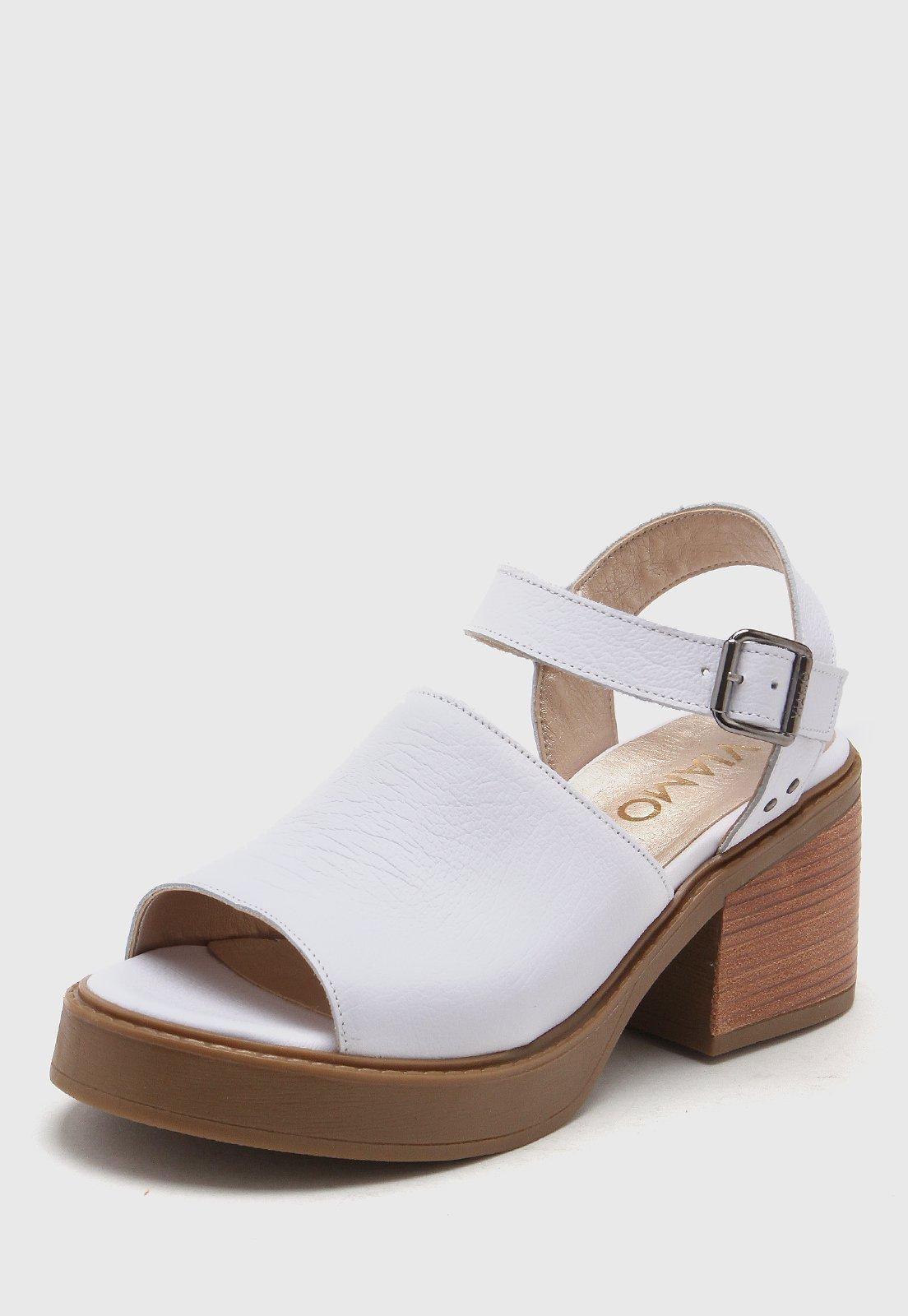 Sandalia de Cuero Blanca Viamo Mamillaria