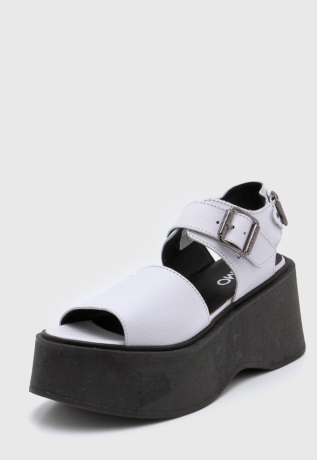 Sandalia de Cuero Blanca Viamo Narciso